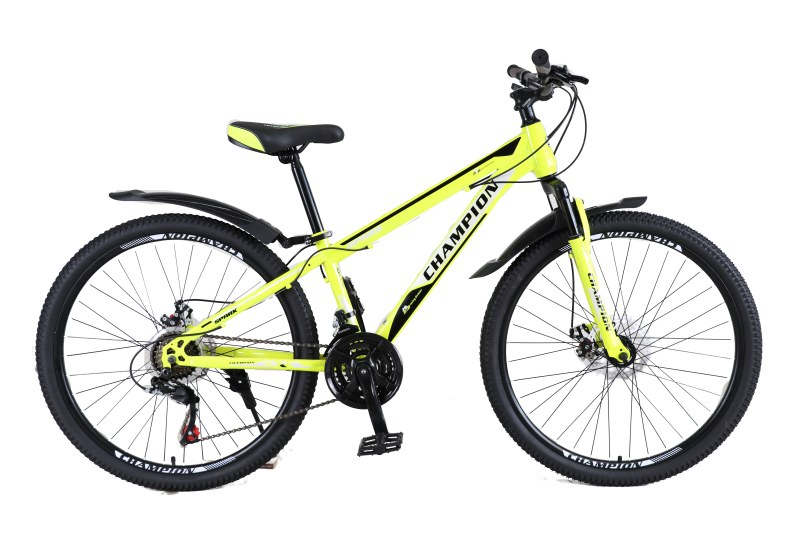 """Велосипед Champion Spark 26""""13"""" Неоновый желтый-Черный-Белый"""