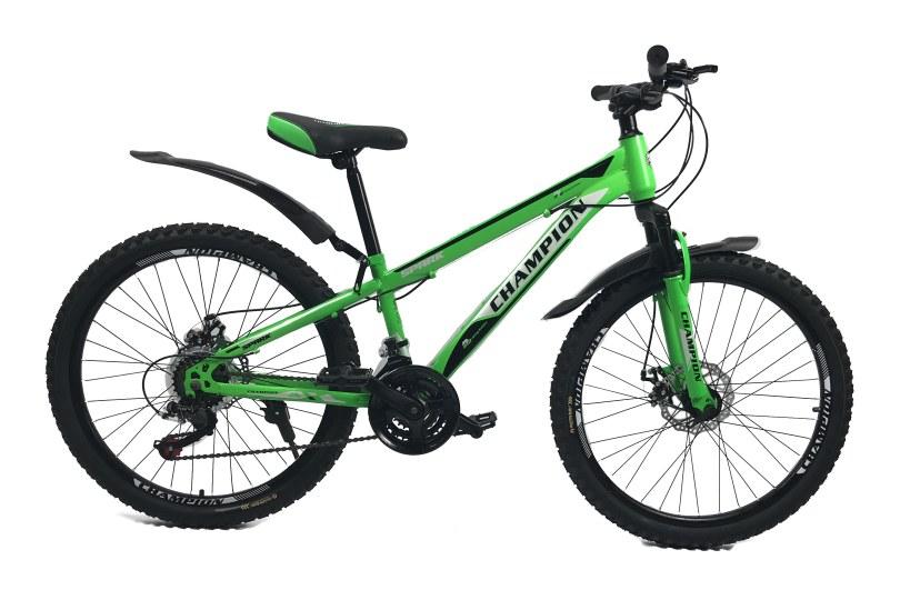 """Велосипед Champion Spark 24""""12"""" Салатовый-Чёрный-Белый"""