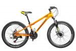 """Велосипед CrossBike Leader 24"""" 12"""" Черный-Оранжевый-Белый"""