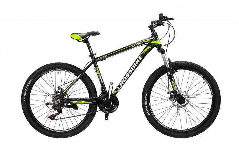 "Велосипед CrossBike Leader 26"" 17"" Черный-Желтый"