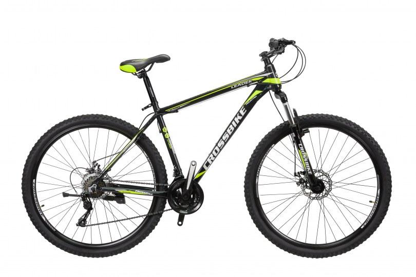 "Велосипед CrossBike Leader 27.5"" 17"" Черный-Желтый"
