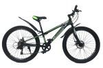 """Велосипед CrossBike Blast RIGID 26"""" 11"""" Черный-Зеленый"""