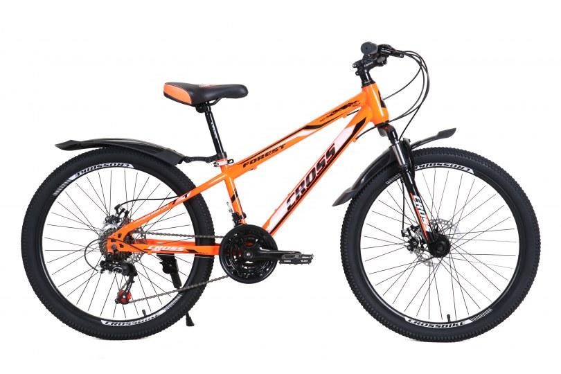 """Велосипед Cross Forest 24"""" 12"""" Неоновый оранжевый"""