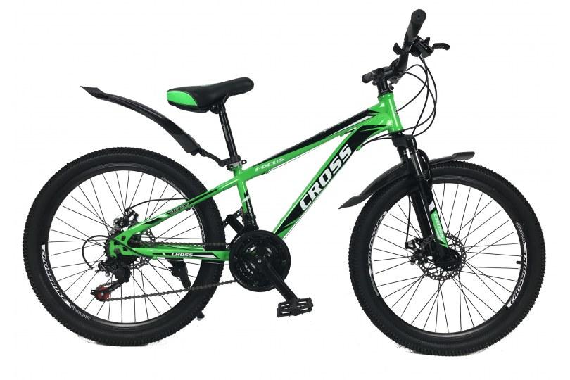 """Велосипед Cross Focus 24"""" 12"""" Зеленый"""