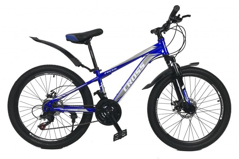 """Велосипед Cross Focus 24"""" 12"""" Синий"""