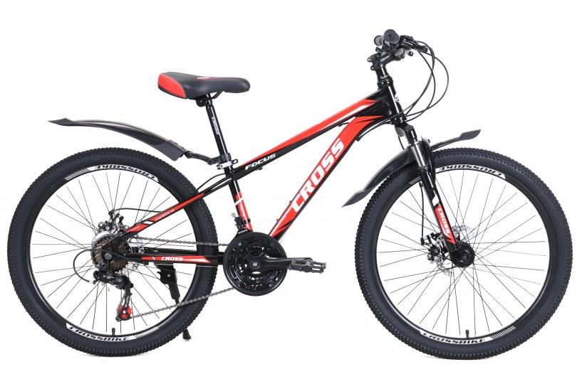 """Велосипед Cross Focus 24"""" 12"""" Черный"""