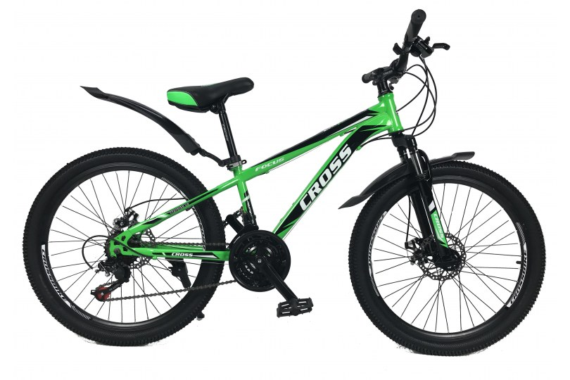 """Велосипед Cross Focus 26"""" 15"""" Зеленый"""