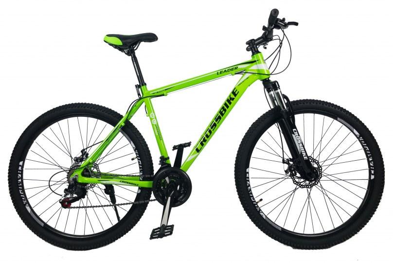 """Велосипед CrossBike Leader 27.5"""" 17"""" Неоновый зеленый"""