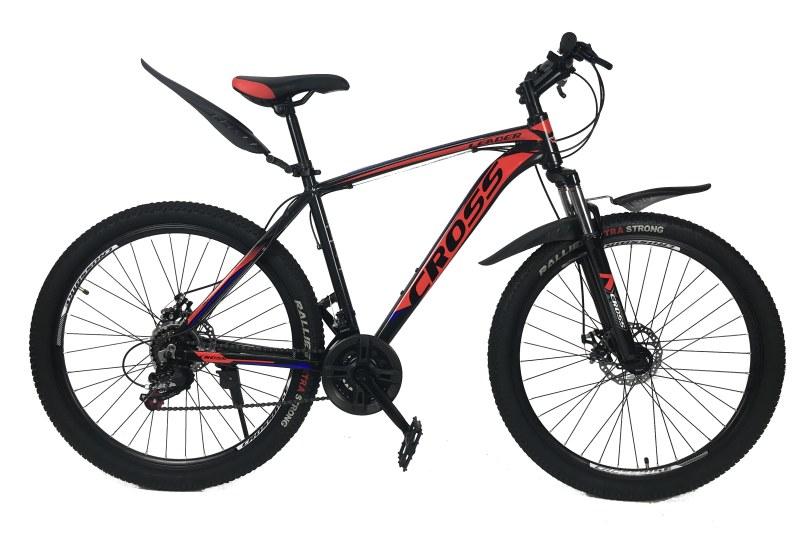 """Велосипед Cross Leader V2 27.5"""" 17"""" Черный-Синий-Красный"""