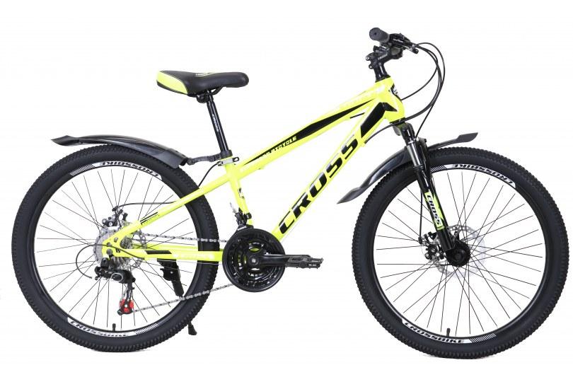 """Велосипед Cross Spider 24"""" 12"""" Неоновый желтый"""