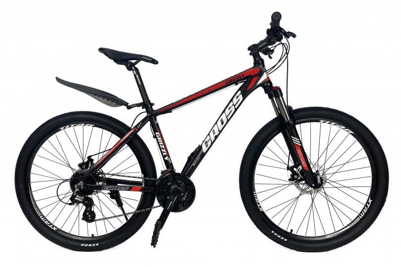 """Велосипед Cross Grizzly 27.5"""" 20"""" Черный-Красный-Белый"""