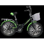 """Велосипед Titan Десна 24"""" 16"""" Черный-Зеленый"""