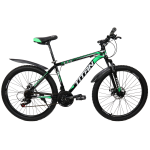 """Велосипед Titan Energy 26""""17"""" Черный-Зеленый-Белый"""