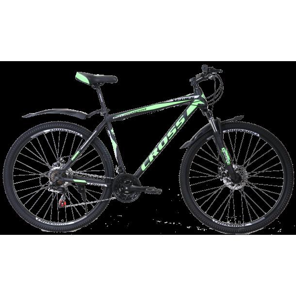 """Велосипед Cross Spider 29"""" 20"""" Черный-Зеленый-Белый"""