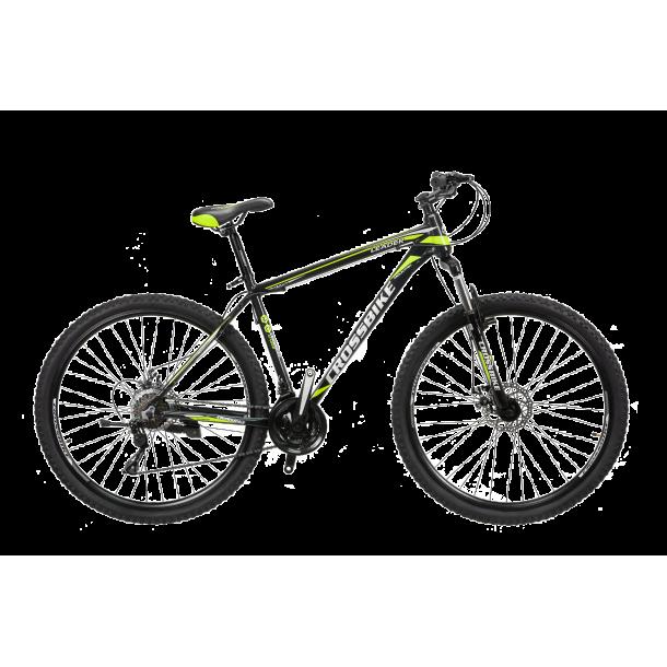 "Велосипед CrossBike Leader 27.5"" 19"" Черный-Желтый"