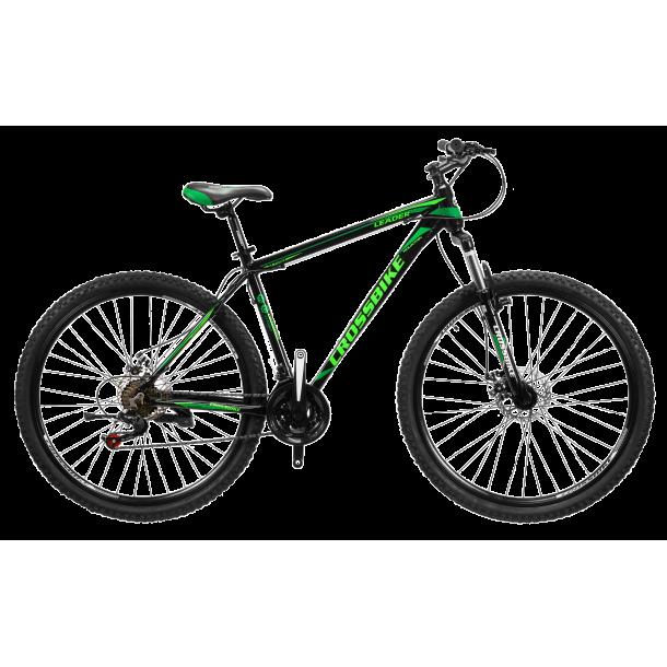 """Велосипед CrossBike Leader 27.5"""" 17"""" Черный-Темный зеленый-Зеленый"""