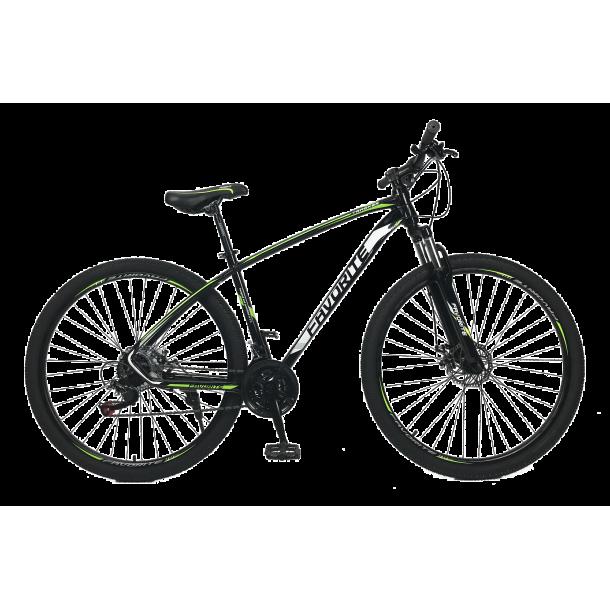 "Велосипед Fovarite Tracker 26"" 17"" Черный-Зеленый"