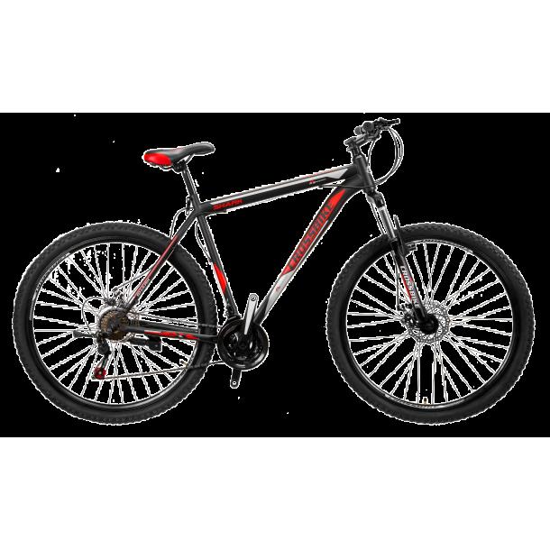 """Велосипед CrossBike Shark 26"""" 13"""" Чорний-Червоний-Сірий"""
