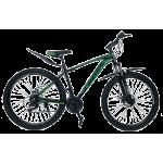 """Велосипед Cross Leader V2 27.5"""" 17"""" Черный-Темно зеленый-Зеленый"""