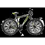 """Велосипед CrossBike Shark 29"""" 15"""" Черный-Зеленый-Серый"""