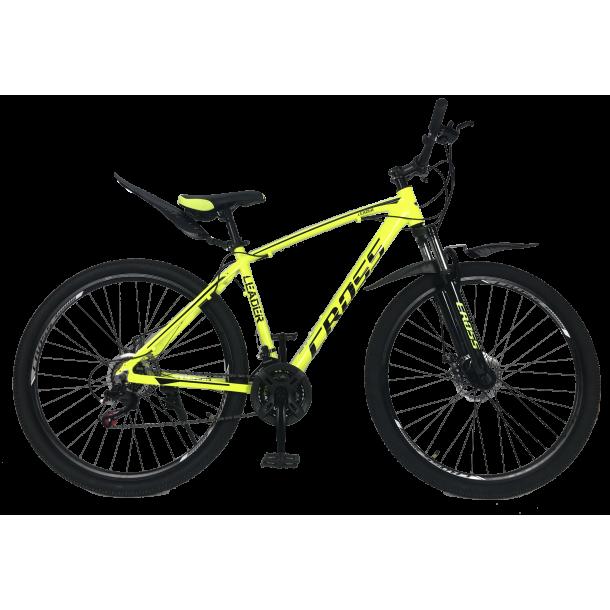 """Велосипед Cross Leader V2 29"""" 19"""" Неоновый Желтый"""