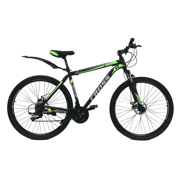 """Велосипед Cross Street 27.5"""" 17"""" Черный-Зеленый"""