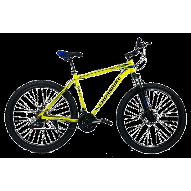 """Велосипед CrossBike Leader 27.5"""" 17"""" Неоновый желтый"""