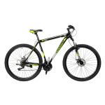 """Велосипед CrossBike Shark 29"""" 19,5"""" Черный-Зеленый-Серый"""