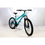 """Велосипед CrossBike Shark GIRL 26"""" 17"""" Бирюза-Красный-Черный"""