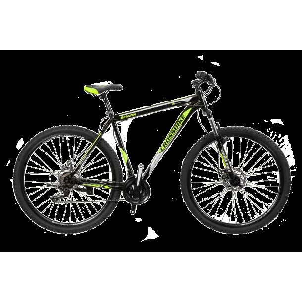 """Велосипед CrossBike Shark 29"""" 17"""" Черный-Зеленый-Серый"""