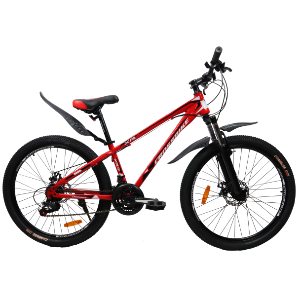 """Велосипед CrossBike Racer 24"""" 12"""" Красный-Черный"""