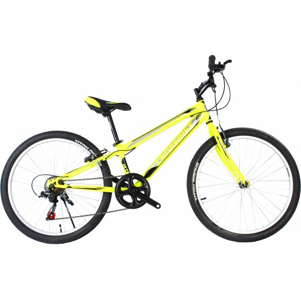 """Велосипед CrossBike Pegas 24"""" 11"""" Неоновый желтый-Черный-Серый"""