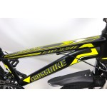 """Велосипед CrossBike Atlas 24"""" 12"""" Черный-Неоновый желтый"""