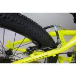 """Велосипед CrossBike Atlas 24"""" 12"""" Неоновый желтый-Черный"""