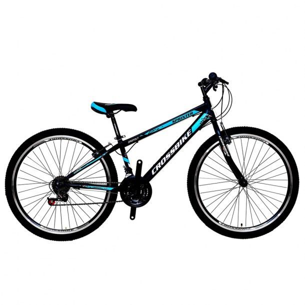 """Велосипед CrossBike Sprinter 26"""" 13"""" Черный-Синий-Серебряный"""