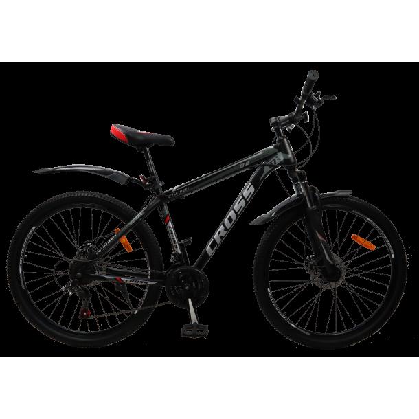 """Велосипед Cross Street 27.5"""" 17"""" Черный-Красный"""